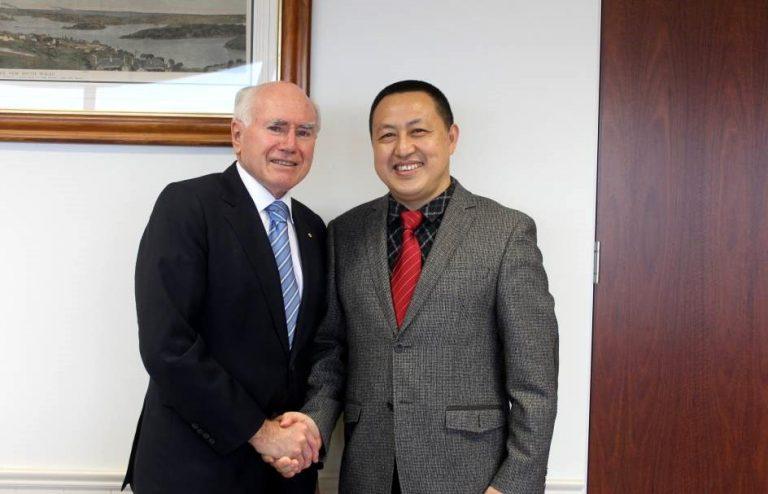 Mr. Zhu with former Australia Prime Minister John Howard