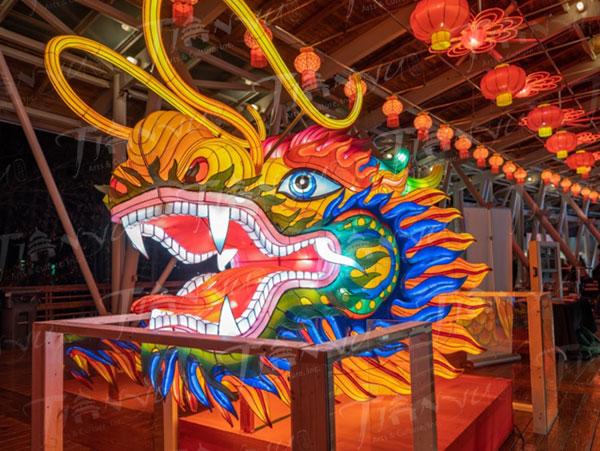 A dragon head Chinese lantern