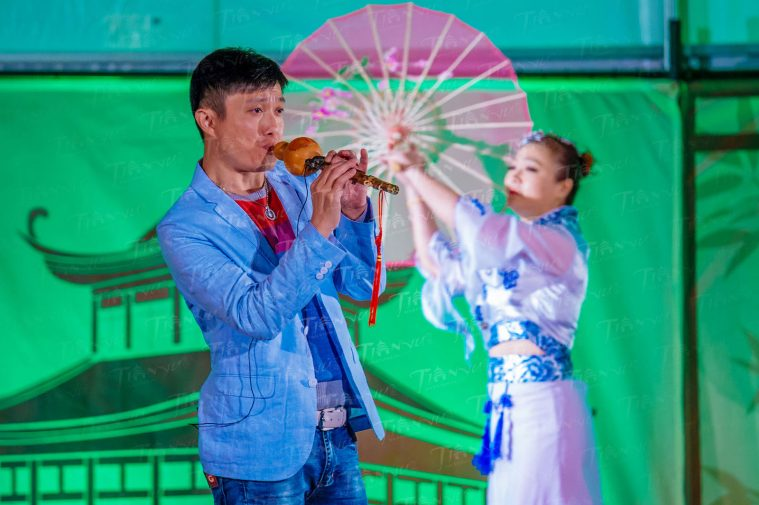 A musical performance at the Philadelphia Chinese Lantern Festival. Photo by Jeff Fusco.